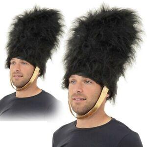 Mens Bearskin Hat Royal Busby Guard Guardsman Fancy Dress Costume Accessory