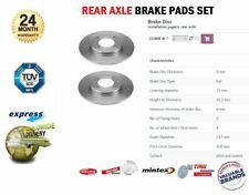 Rear Axle SOLID BRAKE DISCS for CITROEN C3 I 1.6 16V 2003-2005 (Dia 247mm)
