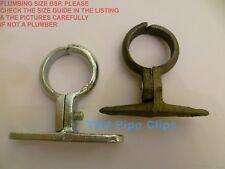 Malleable Iron SCREW ON Bracket - Black or Galvanised Pipe Clips - School Board