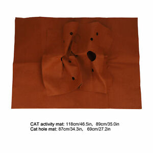 Pet Activity Mat Practical Bite Resistant Pad Toy with Felt Fabric for Activity