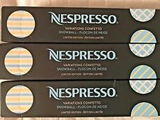 Nespresso Capsules (30) 3 Sleeves Limited Edition Snowball - Coconut Vanilla