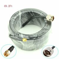 49ft N Male to SMA Male WIFI 5.8ghz Antenna Extension Cable Wireless RG58 Router