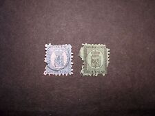 Finland Stamp Scott# 7 and 9 Coat of Arms 1866-74 C356
