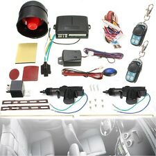 Universal Car Central  Lock/Unlock Remote Kit + Alarm Immobiliser Shock Sensor
