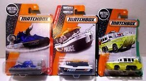 1:64 Matchbox Diecast Rescue Speed Police Boats Amphibian Yacht Ship Toy Lot #2