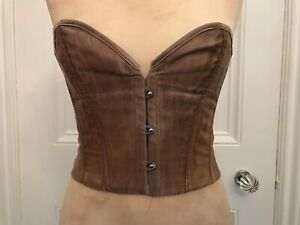 Ladies Pink Short Corset L