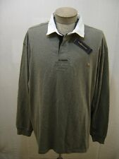 2XB Polo Ralph Lauren Rugby Pony 2X Big Shirt Men Sweater Gray Black White Twill