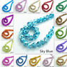 Wholesale Lot Rondelle Faceted Crystal Glass Loose Spacer Beads 4mm 6mm 8mm 10mm