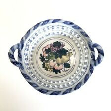 Vintage AMSEL PRODUCT HAMBURG Basket Weave Fruit Bowl