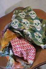 Plomo O Plata Skull /Tuch grün/rot/blau/fuchsia Seide/Baumwolle  230x47  06/07