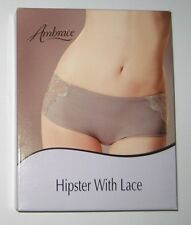 Ambrace Medium Control Hipster Brief Shapewear Mauve Medium 10/12 Large 12/14