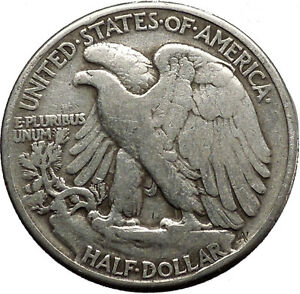 1941 WALKING LIBERTY Half Dollar Bald Eagle United States Silver Coin i45138