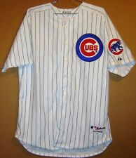 CHICAGO CUBS CHRIS BOSIO WHITE PINSTRIPE 2012 MLB JERSEY