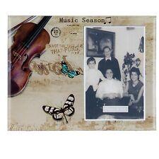 clayre eef Marco de fotos, Portaretratos Music seasion MARCO CRISTAL 22 17cm