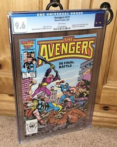 AVENGERS UNDER SIEGE!! AWESOME 1987 Avengers #277 CGC 9.6 NM+ Zemo Vs Cap Cover!