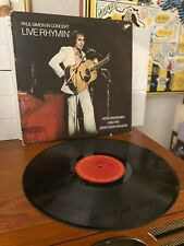 PAUL SIMON-Paul Simon In Concert Live Rhymin' LP- 1974 US 1ST PRESSING-VG VINYL