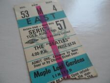 THE BEATLES Original 1965 CONCERT TICKET STUB___Maple Leaf Gardens__Canada__EX