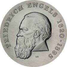 DDR 20 Mark Friedrich Engels 1970 Stempelglanz Silber Gedenkmünze in Münzkapsel
