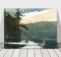 "WINSLOW HOMER - Deer in the Adirondacks - CANVAS ART PRINT POSTER - 32x24"""