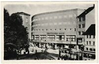 Ansichtskarte Jena - Holzmarkt mit Hotel/Theater/Straßenbahn - 1947 schwarz/weiß