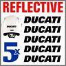 5pcs Nero Rifrangenti Adesivi compatibile con Moto Ducati Monster 696 769 999