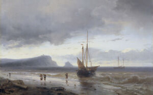 """high quality oil painting 100% handpainted on canvas """"Along the Coast """""""