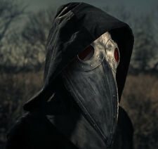 Hand made Plague Doctor's mask w/leather strap- Halloween costume