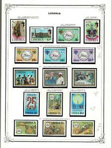 Sellos Liberia 1956 a 1981 stamps 149 series completas (consultar)