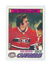 1977-78 TOPPS KEN DRYDEN CARD #100 NM NO CREASES (490)