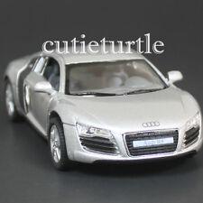 Kinsmart Audi R8 1:36 Diecast Toy Car Silver