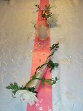 Tischdekoration für ca. 60 Pers. rosa zur Hochzeit Tischdeko TD0030