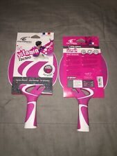 2 Cornilleau Tacteo Vitamin Shock Resistant Ping Pong Paddle Set outdoor Pink