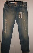 NEW Abercrombie & Fitch Distressed Straight Legged Jeans Women's sz 10