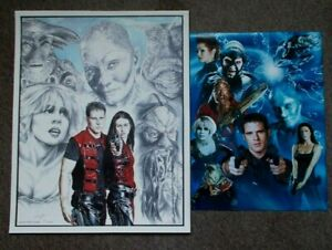 "2 Farscape posters, 16x20"" limited edition signed print & 12x16"" photo print"