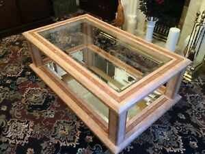 Marble coffee table used - 130cm Long x 78cm Wide x 40cm High - Large