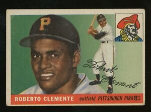 """1955 Topps #164 Roberto Clemente RC Rookie HOF """" Good - Very Good Condition """""""