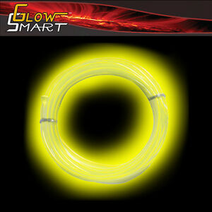 10 ft Flexible EL Wire Neon YELLOW LED Light Rope for Car decorative Party Light