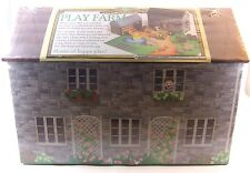 WOODEN & CARD PLAY FARM SET BRAND NEW WITH FIGURES & ANIMALS GREAT GIFT