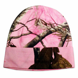 """PEACHES PICK LADIES Realtree AP PINK CAMO Knit Beanie Cap NEW WOMENS 8"""" OR 12"""""""