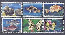 GREECE 1981, Butterflies, Fish, set of 6, MHN** (41)