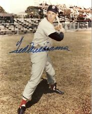 Ted Williams BOSTON RED SOX AUTOGRAPHED PHOTOGRAPH
