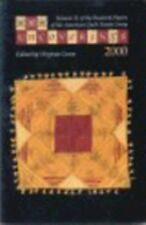 UNCOVERINGS 2000: VOLUME 21 OF RESEARCH PAPERS OF AMERICAN QUILT