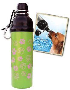 Bulk Lot 37 units - 24 oz. Pink Paws Stainless Steel Pet Dog Water Bottle