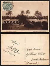 STORIA POSTALE Colonie ERITREA 1929 Cart. da Tripoli a Guardia Sanframondi (GB1)