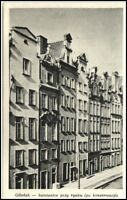 DANZIG Gdańsk Polen AK Strasse Gebäude Häuser um 1945 Vintage Postcard