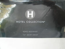 """Hotel Collection King Bedskirt 16"""" Drop Cream Stitched Stripe New NIP"""