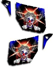 Pro Armor Door Graphic Decal Canam Maverick Commander Pyro The Clown Blue