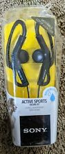 Sony MDR-AS200 Active Sports Stereo Headphones Black Water Resistant NEW