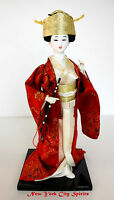 Vintage Japanese Geisha Doll 12 inches Holding Flute
