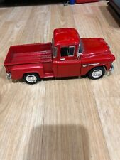 S5(2) 1955 Chevy Stepside SS 7602 Pickup Truck 1:24 Scale Commercial Red